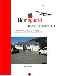 Sample Home Inspection Report Homeguard Building